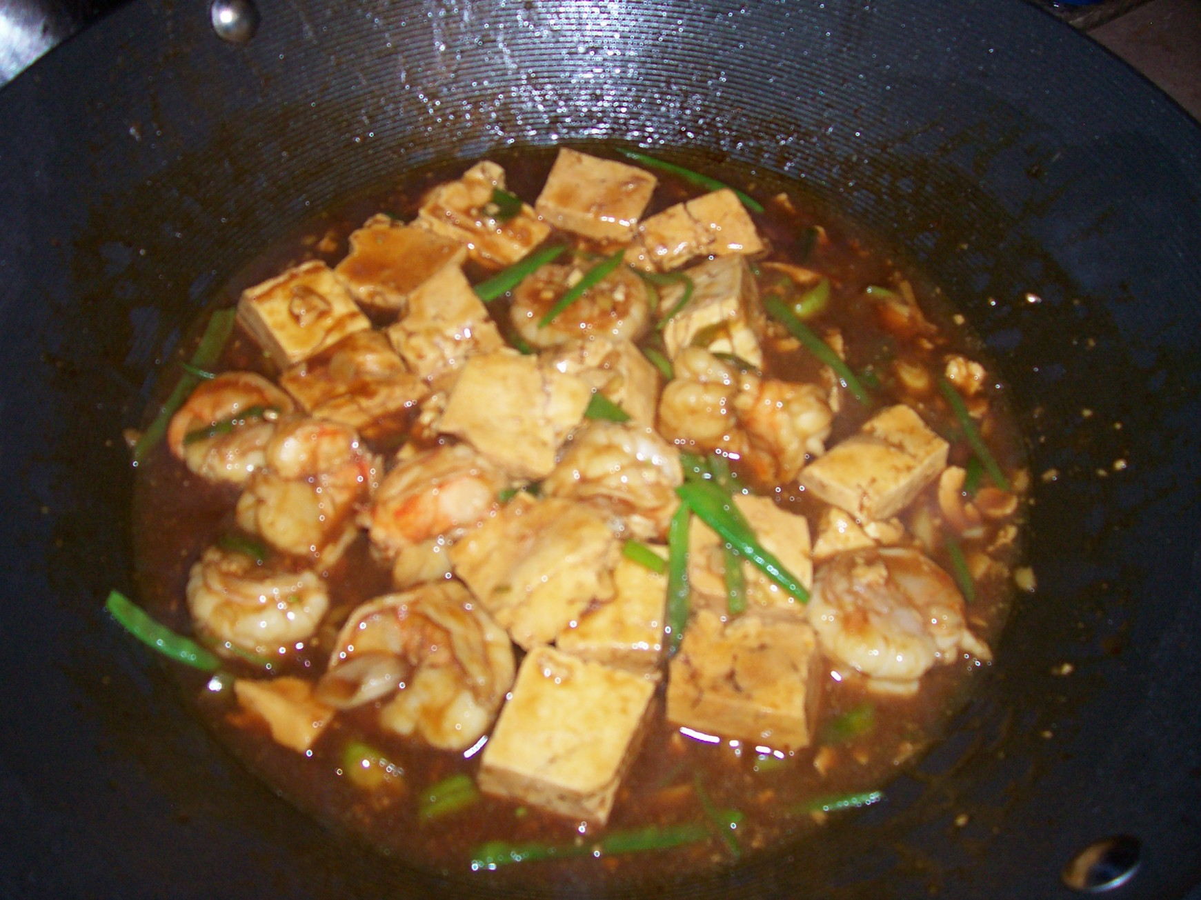 shrimp and tofu stir fry