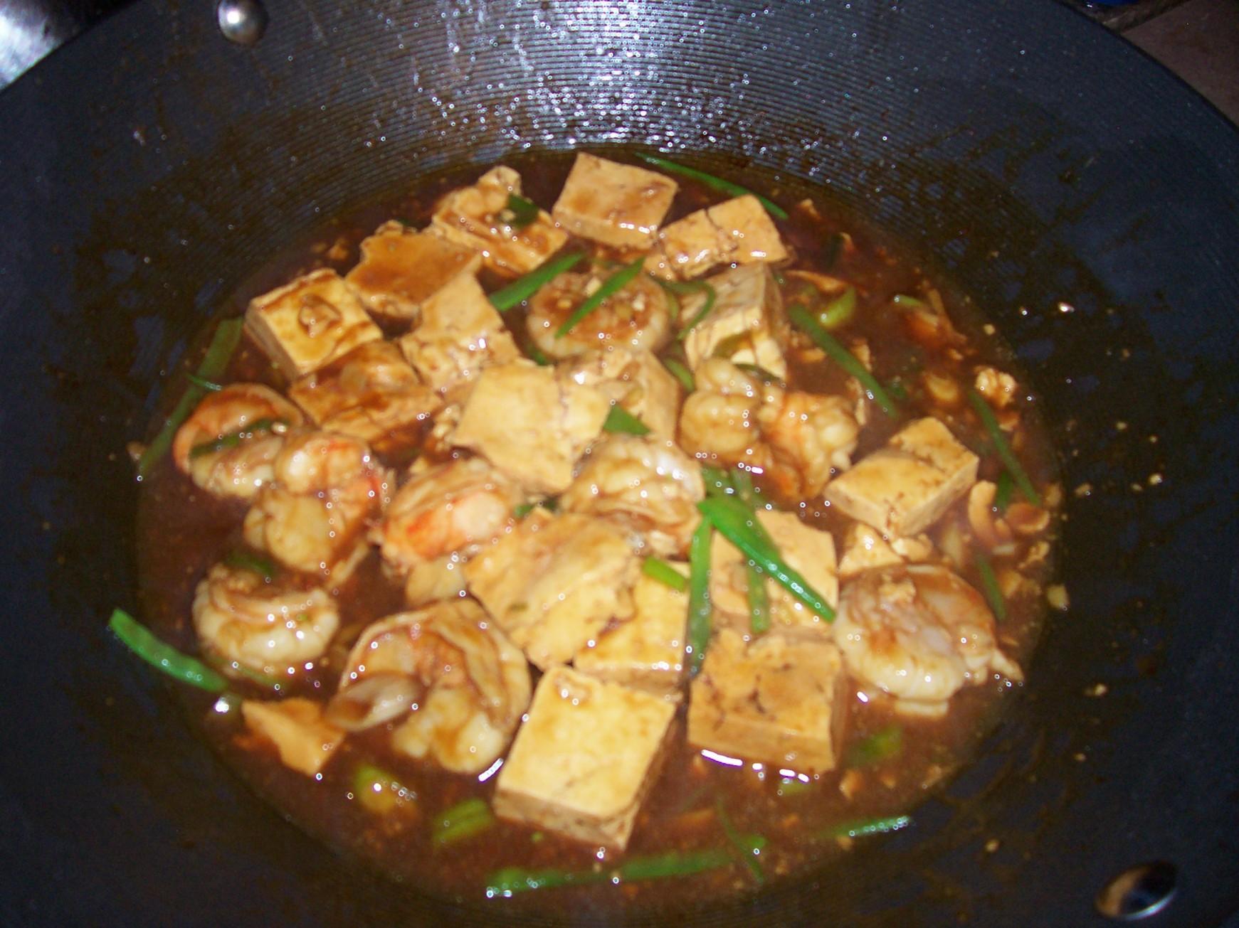 shrimp and tofu stirfry